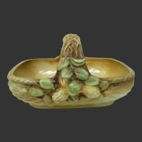 "Rare Hand Painted Nippon ""M"" Molded Relief Basket ~ Peanuts"