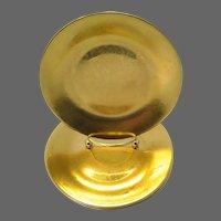 Set of 3 Philippe Deshoulieres Limoges CARAT Gold Canapé ~ Bread & Butter ~ Dessert Plates