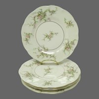 Theodore Haviland New York ROSALINDE  Plates ~ Set of 4