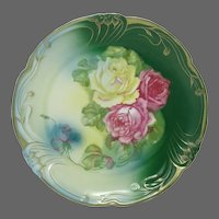 Beautiful PM Bavaria HP Roses Decorative Charger Plate