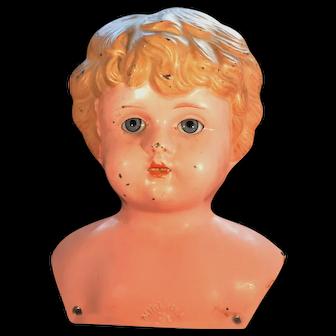 German Metal doll head