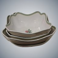 Vintage Wedgwood England 1759 English Cottage Collection Square Bowls