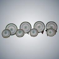 8 Pc. Vintage Spode Copeland Newburyport Broth Cups & Saucers