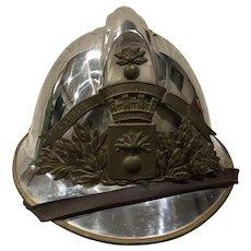 1920s Vintage French Fireman's Helmet 'Sapeurs Pompiers'