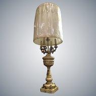 Exquisite Vintage French Provincial Cherub Candelabra Lamp