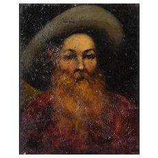 Oil Painting Portrait Antique 19th, Portrait Painting Man, Portrait Painting