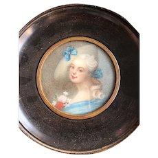 Miniature Portrait Painting, Miniature Portrait Woman, Miniature Antique