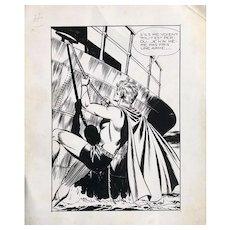 Original Ink Drawing by Félix MOLINARI (1930) - BD - Comics - Super Boy