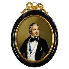 Miniature Portrait Painting, Miniature Portrait Gentleman, Comte de Chambord