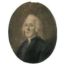 Miniature Portrait Painting, Miniature Portrait Gentleman, Miniature Antique