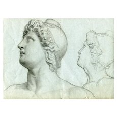 19th century Vintage Drawing - Dessin Ancien - Old Master - French Marianne