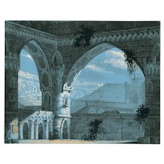 Old Master Ink Drawing - Antique - Architecture - Coliseum
