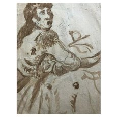 18th century Old Vintage Drawing - Dessin Ancien - Spanish School
