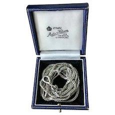 Vintage 1920c 9ct White Gold Pocket Watch Chain