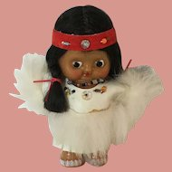 Vintage Carlson Native Amercian Celluoid Doll