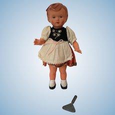Geman Character Doll Dancing wind up