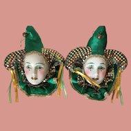 Pierrot Clown Jester Wall Masks 2 Piece