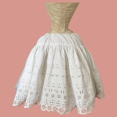 Dolls Petticoat Victorian Embroidery Anglaise