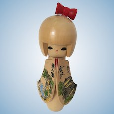 Kokeshi Doll Japanese 7 inches