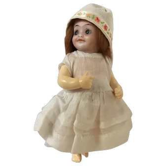Walther & Sohn German Bisque Head Googly Googlie Eyed Baby Doll 7 inches approx