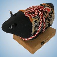 Japanese Black Bull Doll GANKAKEUSHI Folk Art