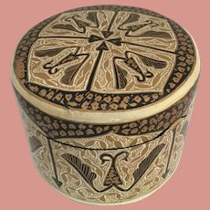 Papier Mache Trinket Pot made in Kashmir India