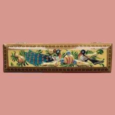 Paper Mache Trinket Box from Kashmir India