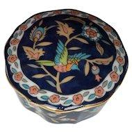 Japanese Porcelain Trinket Box Pot Dai Ichi Toki 1970s Export Ware