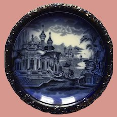 Victorian Flow Blue Charger Plate