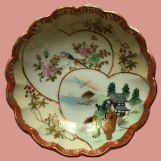 Kutani Japanese Dish 1930s Showa Era