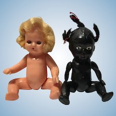 Baby Dolls Miniature Celluloid Black and White