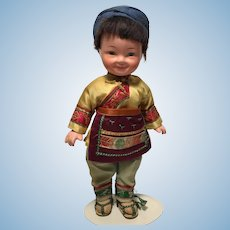 Asian Composition Doll Female Girl  8 inches Chinese Tourist Doll