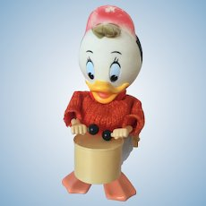 Walt Disney Wind Up Huey Donald Duck Toy