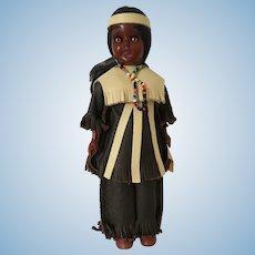 Vintage Carlson Native American Celluloid Souvenir Doll Mono Chief A811