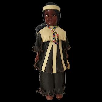 Vintage Carlson Native American Celluoid Doll Mono Chief A811