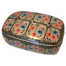 Large Kashmir Papier Mache Vintage Trinket Box