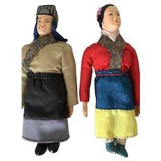 Asian Composition Dolls