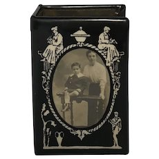 Antique Match Box Holder Vesta and Photograph Frame Edwardian