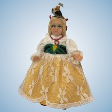 Vintage Magis Roma Felt Face Doll