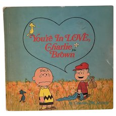 Vintage Charlie Brown Peanuts Book You're In Love Charlie Brown