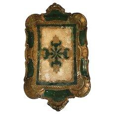 Vintage Italian Florentine Gilt Small Wooden Tray