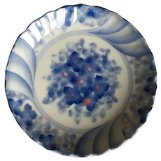 Small Blue and White Porcelain Trinket Dish marked