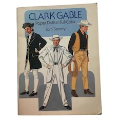 Vintage Paper dolls Clark Gable by Tom Tierney Full Colour