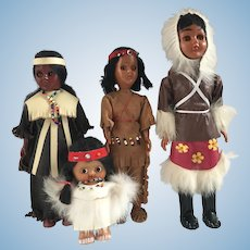 Native American Dolls Celluloid Carlson Inuit