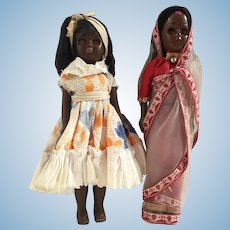 Two International Dolls Indian and Caribbean