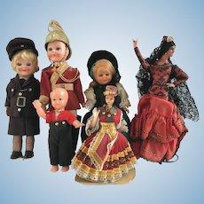 Vintage Tourist Celluloid Dolls TLC lot of 6