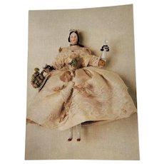 Grodnertal Doll Postcard Dutch, Penny Wooden Interest