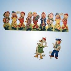 Vintage tuck paper dolls die cut outs animal characters ephemera