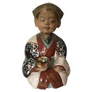 Asian Nodding Pottery Figure Japanese Oriental Man