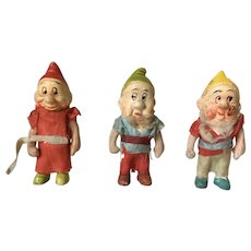 Early Vintage Snow White Dwarfs All Bisque Dolls